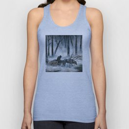 Grim Reaper with Horse in the Woods Unisex Tank Top