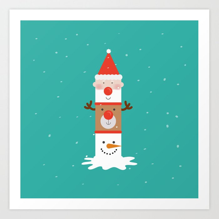 Holiday Totem Art Print