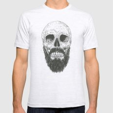 The beard is not dead Ash Grey Mens Fitted Tee X-LARGE