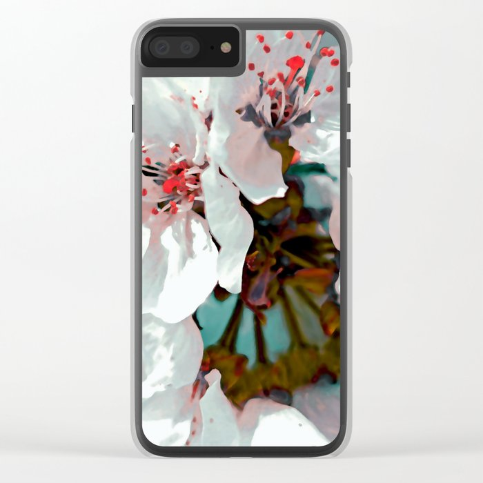 Cherry blossom flowers Clear iPhone Case