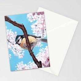 Cyanistes caeruleus Stationery Cards
