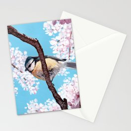 Cyanistes caeruleus Stationery Cards