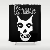 kittens Shower Curtains featuring Misfit Kittens by SethMcBurney
