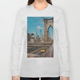 The Bridge in New York City (Color) Long Sleeve T-shirt