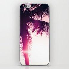 pink palm tree silhouettes kihei tropical nights iPhone & iPod Skin