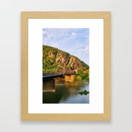 Majestic mountains (Harper's Ferry, WV) Framed Art Print