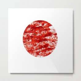 Flag of japan 3- Chalk version. Metal Print