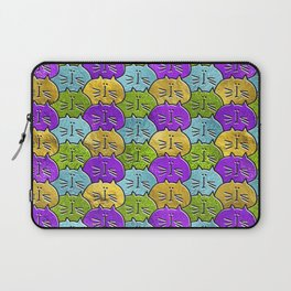 Cute whimsical Glass and glitter Cat Pattern Laptop Sleeve