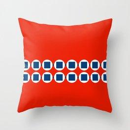 Retro Beaded Bracelet Pop Art - Red White Blue Throw Pillow