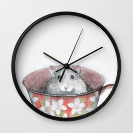 Rat in a cup Wall Clock