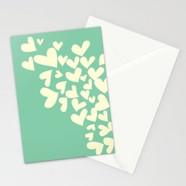 Heart In Hearts. Clouds in the hearts Stationery Cards