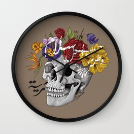 Skull of Life Wall Clock