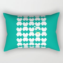 Honey Bee back to Nature with Love Rectangular Pillow