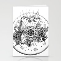 zentangle Stationery Cards featuring Zentangle by Alex Vladoiu