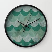 scales Wall Clocks featuring Scales by Jarrah James