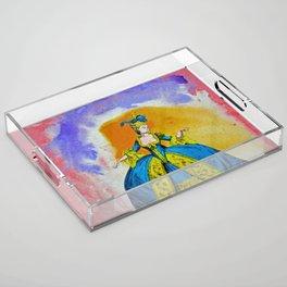 Marie Antoinette by Michael Moffa Acrylic Tray