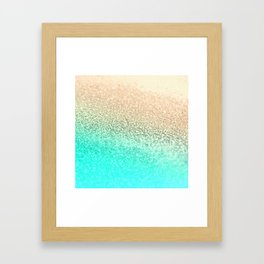 GOLD AQUA Framed Art Print