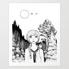 Katniss's Silver Lining Art Print