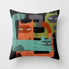 WHISKER BRACKETS Throw Pillow