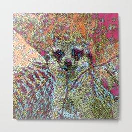 Abstract Meerkat Metal Print
