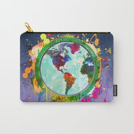 World Map - 2 Carry-All Pouch