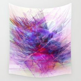 Digital Floral Abstract Wall Tapestry