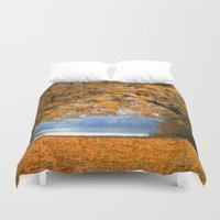 denmark Duvet Covers featuring Autumn in Denmark by by Henrik Wulff Petersen (zoomphoto)