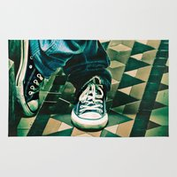 converse Area & Throw Rugs featuring Icon Converse by Sparrow House Photography