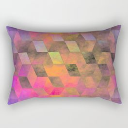 Stacked Sky (magenta-coral-ochre) Rectangular Pillow