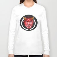 devil Long Sleeve T-shirts featuring Devil by Michael Forbes