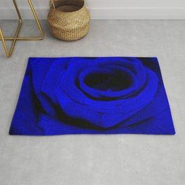 Expansion Blue rose flower Rug