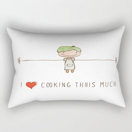 I love cooking boy Rectangular Pillow