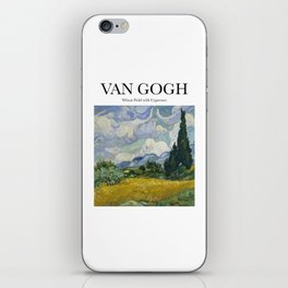 Van Gogh - Wheatfield with Cypresses iPhone Skin