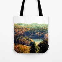 trout Tote Bags featuring Trout Lake by Lindsay Isenhour