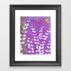 Ferns And Orchid Skies Framed Art Print