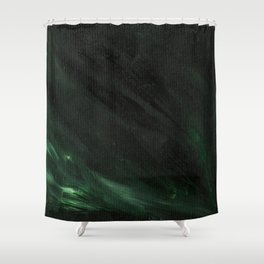 Black & Green Shower Curtain