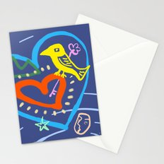 among moving stars Stationery Cards