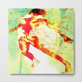 Burning With Metal Print