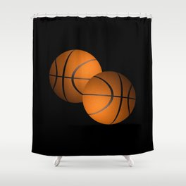 Basketball Sports Design Shower Curtain