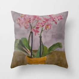 Second Chance Orchids Throw Pillow