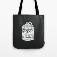 whiskey Tote Bags featuring WHISKEY by magdam