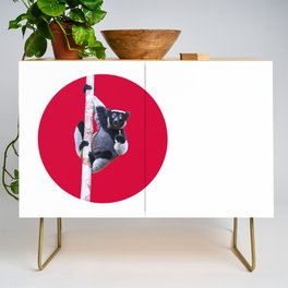 Indri indri sitting in the tree Credenza