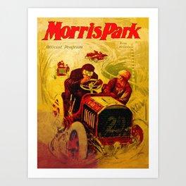 Morris Park Auto Race, vintage poster, race poster Art Print