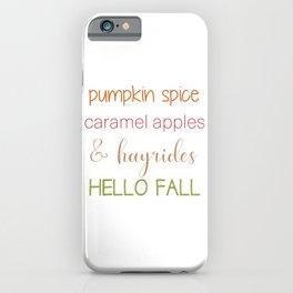 Autumn Words iPhone Case