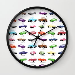 Car collection Wall Clock