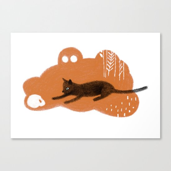 Cat's Dream Canvas Print