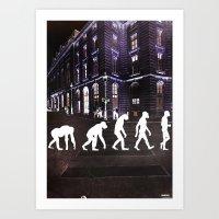 evolution Art Prints featuring Evolution  by Ganech joe