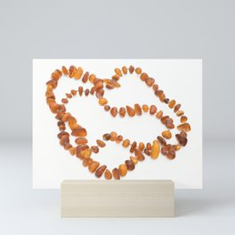 beads with amber Mini Art Print