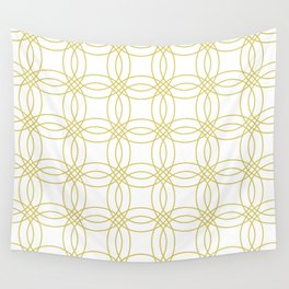 Simply Vintage Link Mod Yellow on White Wall Tapestry