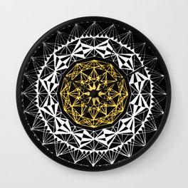 Mandala- Yellow Wall Clock